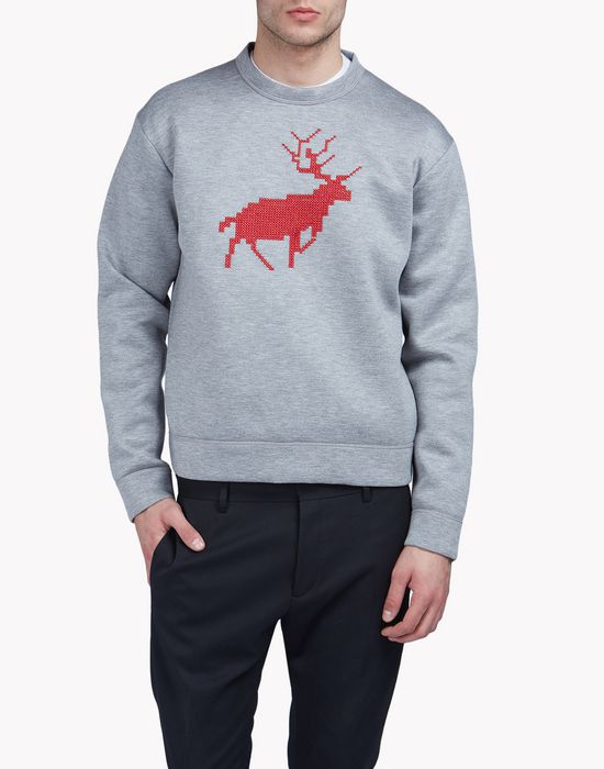 reindeer sweatshirt top wear Man Dsquared2