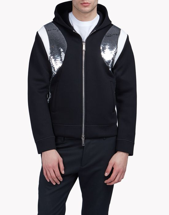 sequin-trimmed sweat jacket top wear Man Dsquared2