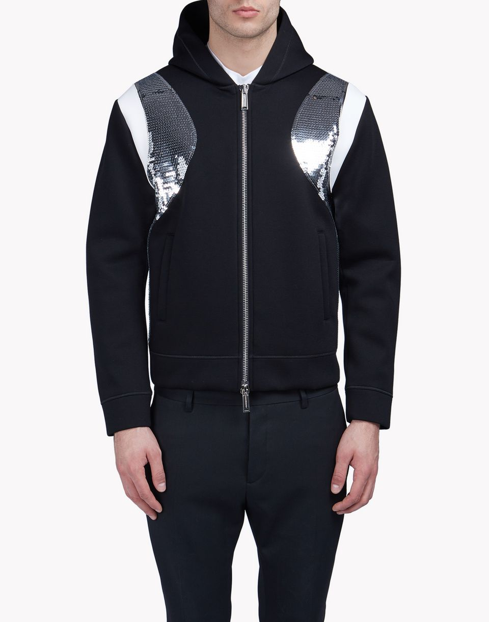 sequin-trimmed sweat jacket tops & tees Man Dsquared2