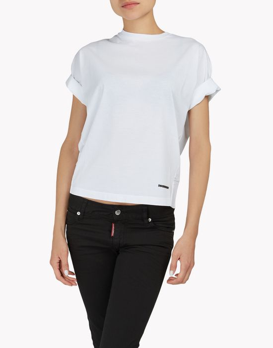 cotton t-shirt tops & tanktops Damen Dsquared2