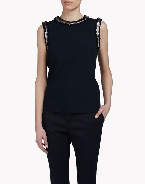 metallic coin embroidered top tops & tees Woman Dsquared2