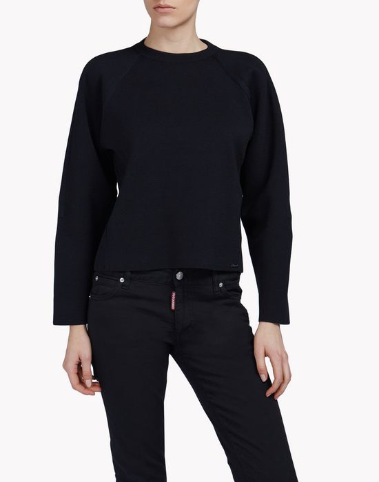 cotton-silk pullover top wear Woman Dsquared2