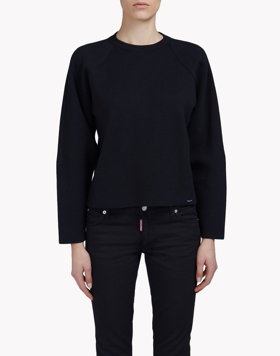 cotton-silk pullover tops & tees Woman Dsquared2