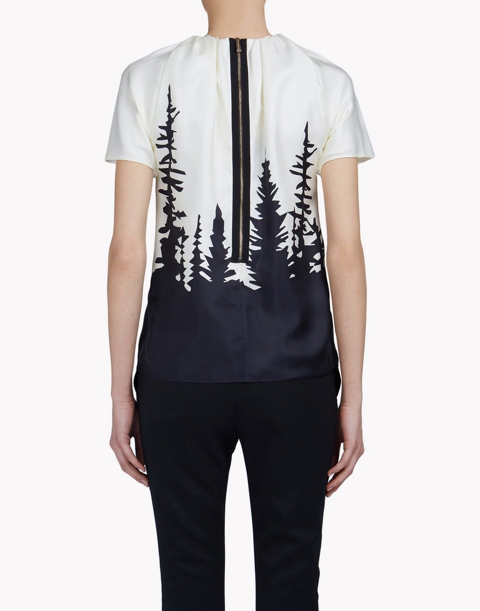 silk-chiffon forest shirt top wear Woman Dsquared2