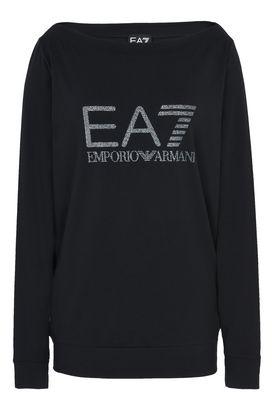 Armani Sweatshirt Donna felpa in cotone stretch