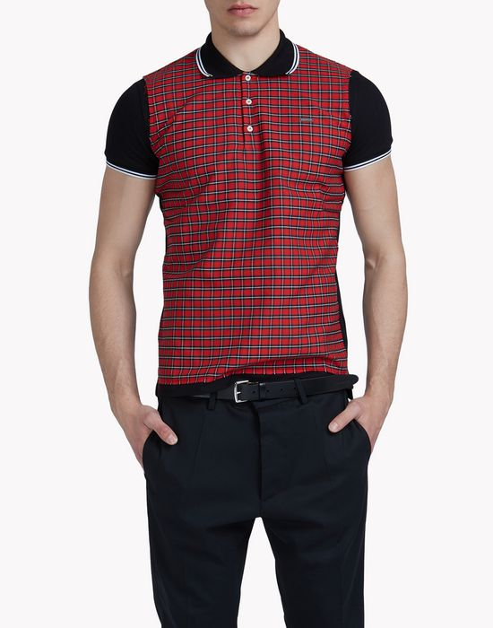 check polo shirt top wear Man Dsquared2