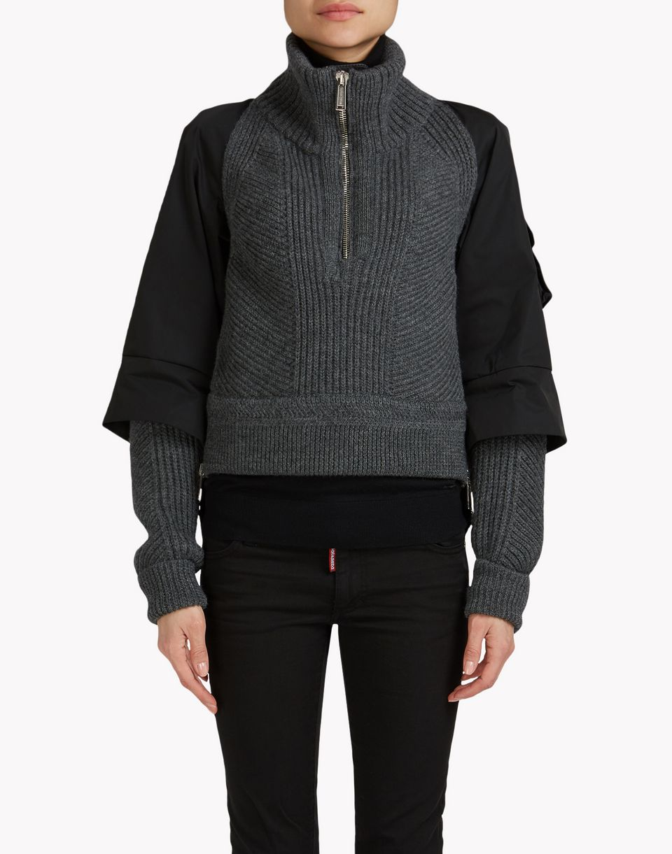 ribbed wool half-zip pullover tops & tees Woman Dsquared2