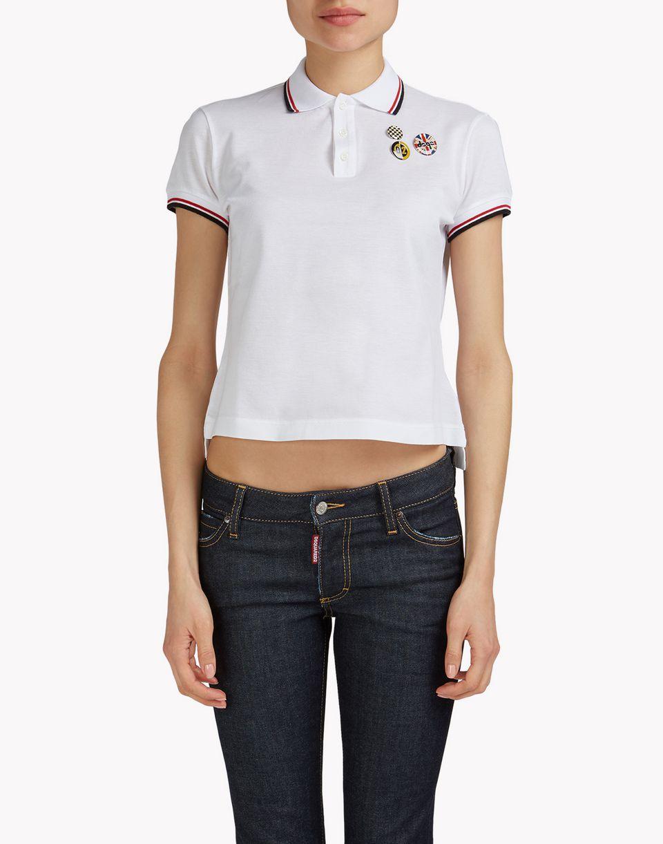 pin polo shirt top wear Woman Dsquared2