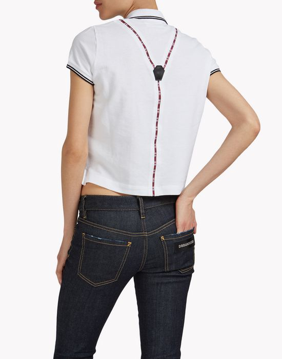 suspender polo shirt tops & tees Woman Dsquared2