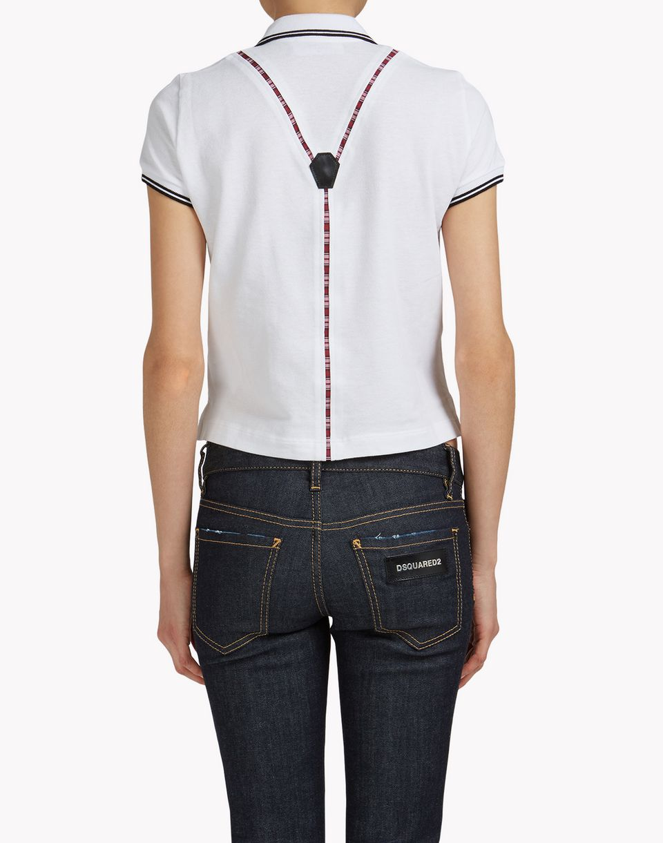 suspender polo shirt top wear Woman Dsquared2