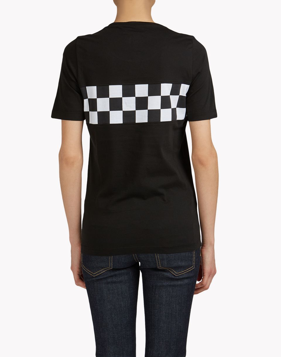 checkerboard t-shirt top wear Woman Dsquared2