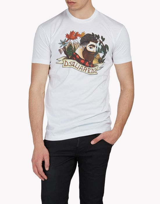 lumberjack t-shirt tops Homme Dsquared2