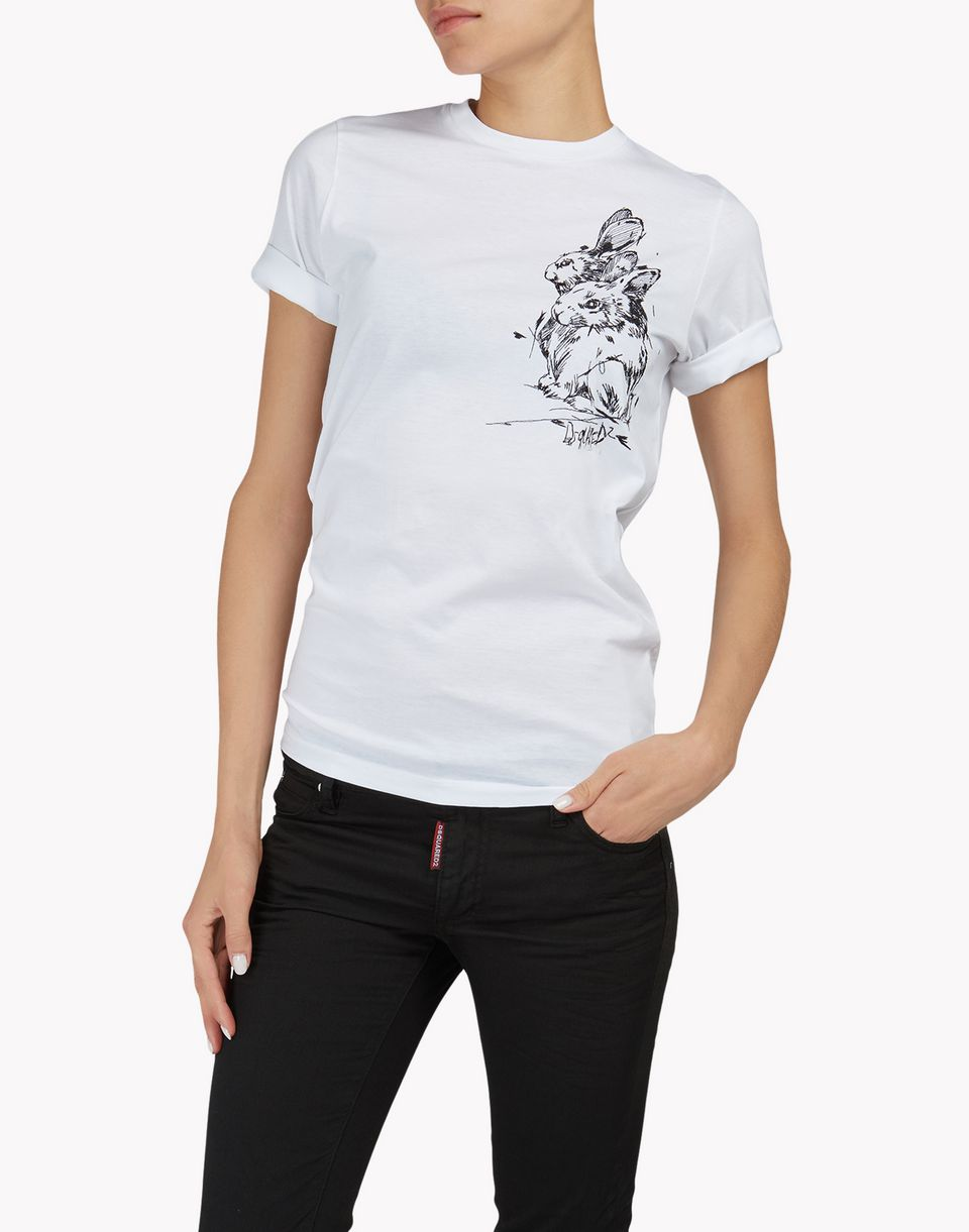 rabbit t-shirt tops & tees Woman Dsquared2