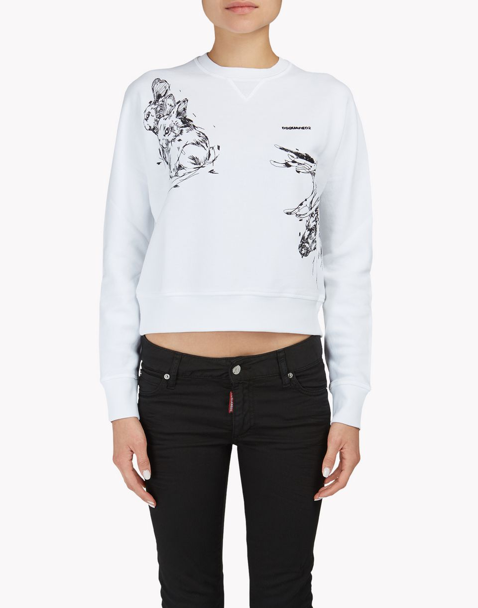 animal sweatshirt tops & tees Woman Dsquared2