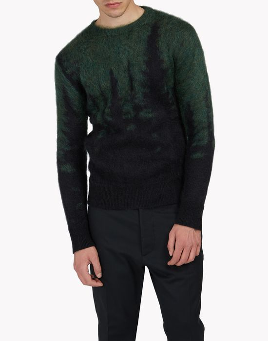 mohair wool crew neck pullover tops & tees Man Dsquared2