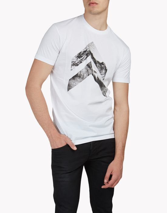 geometric forest t-shirt tops & tees Man Dsquared2