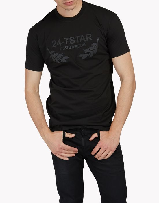24-7 star t-shirt topwear Uomo Dsquared2
