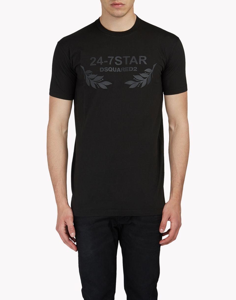24-7 star t-shirt tops & tees Man Dsquared2