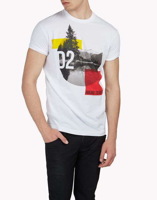 d2 hiking team t-shirt tops & tees Man Dsquared2