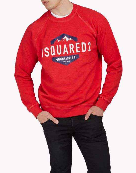 d2 mountaineer sweatshirt tops & tanktops Herren Dsquared2