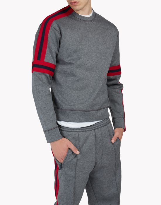 asymmetric stripe sweatshirt  camisetas y tops Hombre Dsquared2