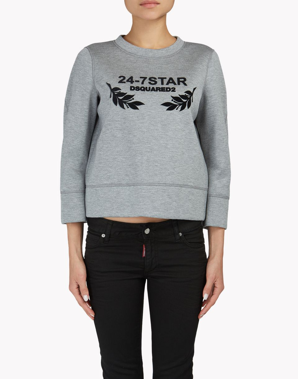 24-7 star sweatshirt tops & tees Woman Dsquared2