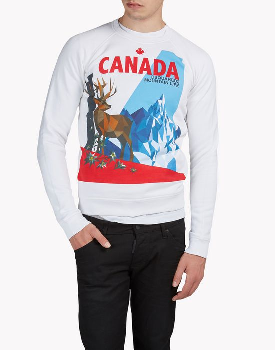 canada sweatshirt top wear Man Dsquared2