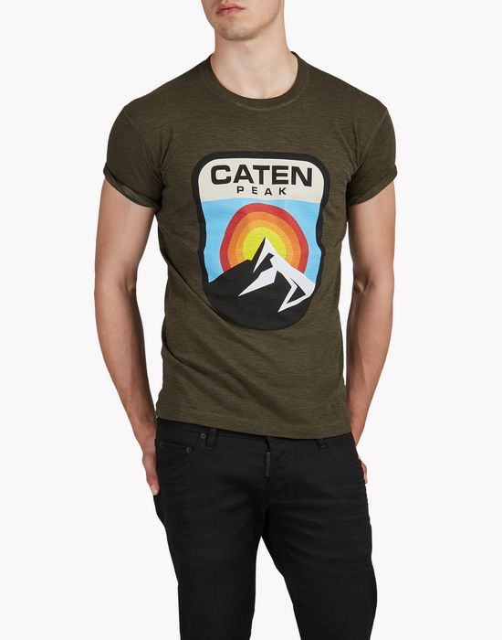 caten peak t-shirt tops Homme Dsquared2