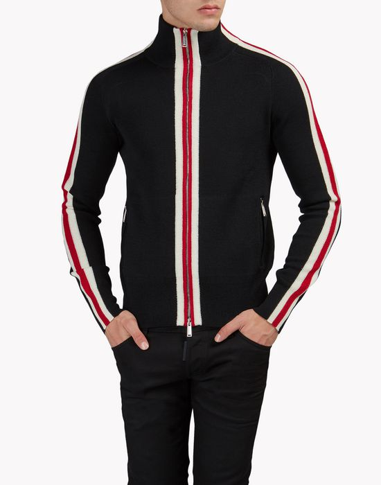 zip-up turtleneck sweater top wear Man Dsquared2