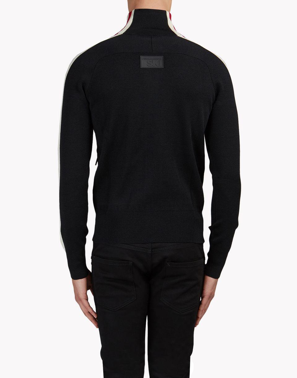 zip-up turtleneck sweater top wear Man Dsquared2