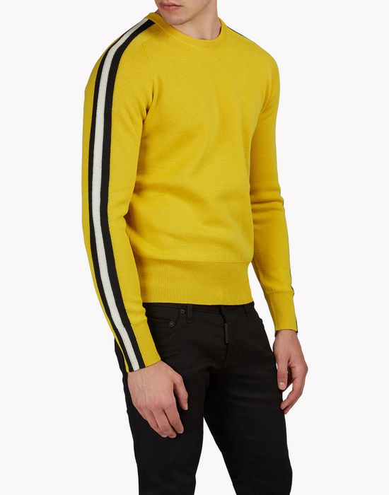 striped wool turtleneck pullover tops & tees Man Dsquared2