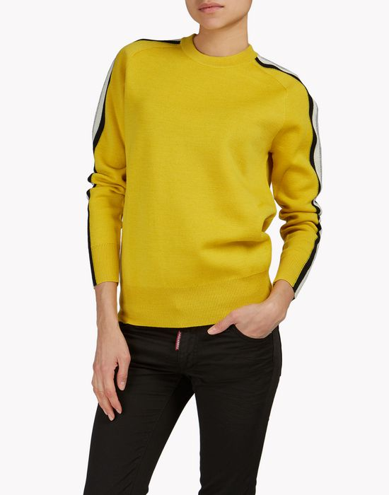 striped ribbed wool pullover tops & tees Woman Dsquared2