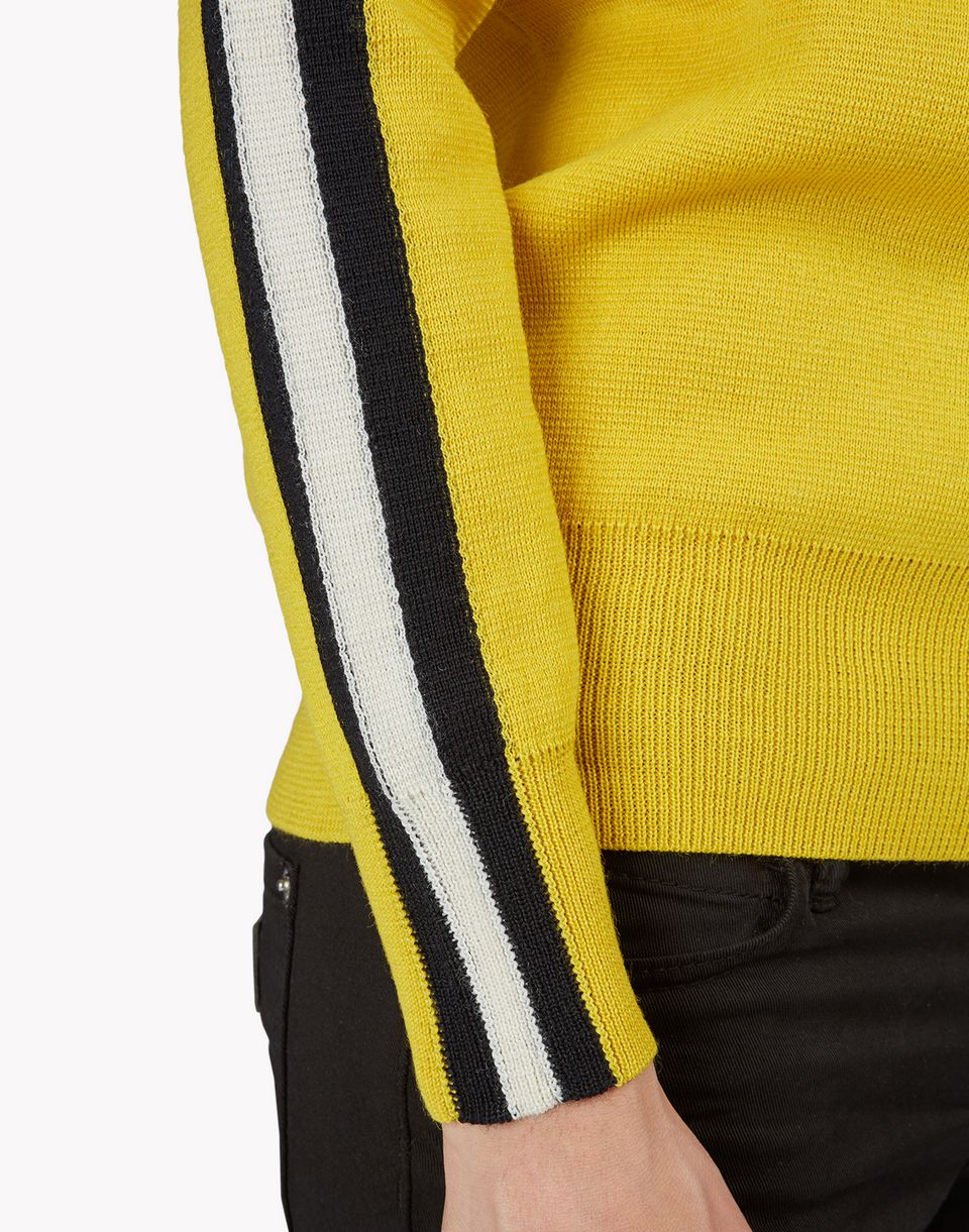 striped ribbed wool pullover top wear Woman Dsquared2