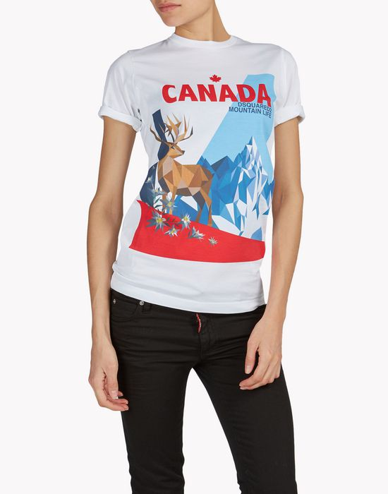 canada t-shirt top wear Woman Dsquared2
