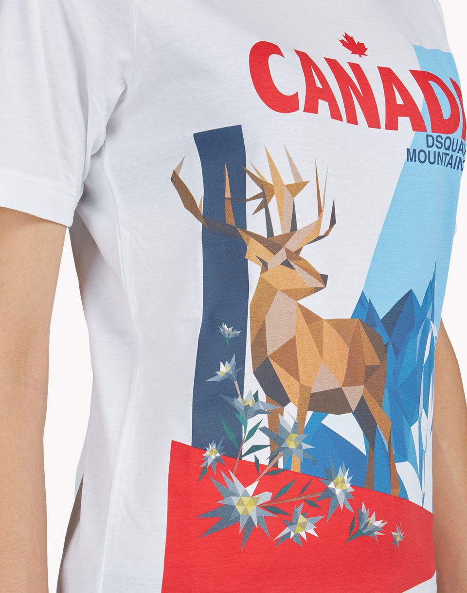 canada t-shirt tops & tees Woman Dsquared2