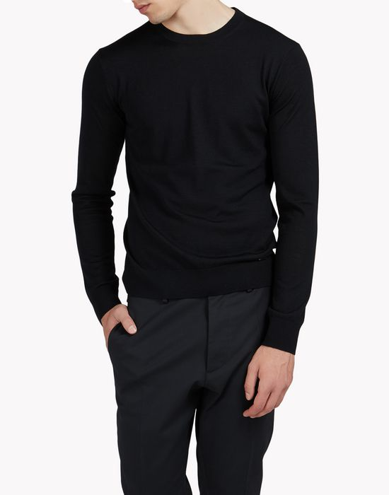 wool crew neck pullover tops & tees Man Dsquared2