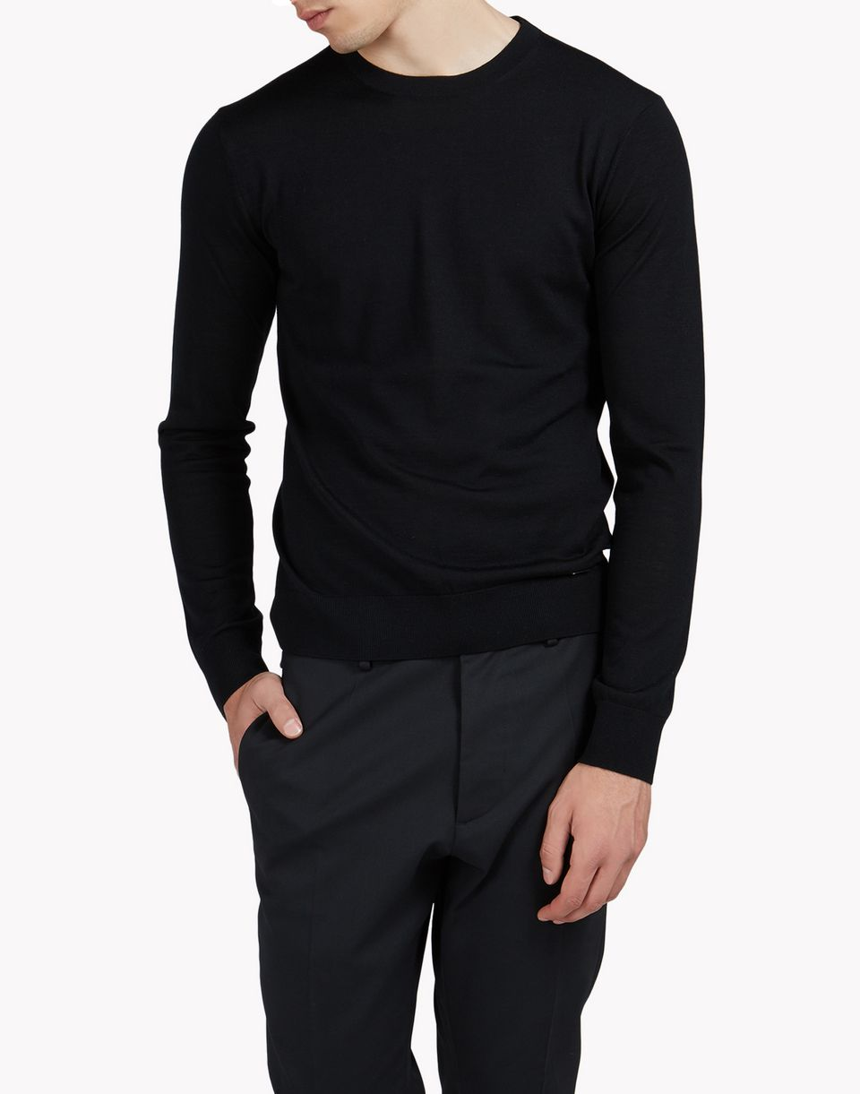 wool crew neck pullover top wear Man Dsquared2