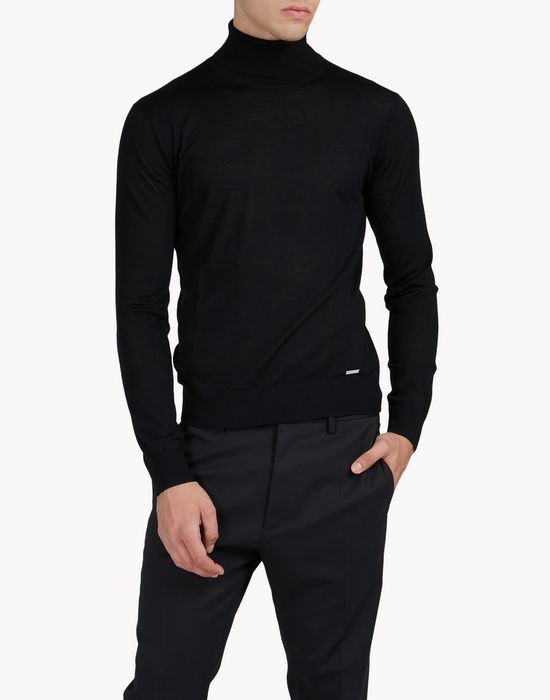 wool turtleneck pullover tops & tees Man Dsquared2
