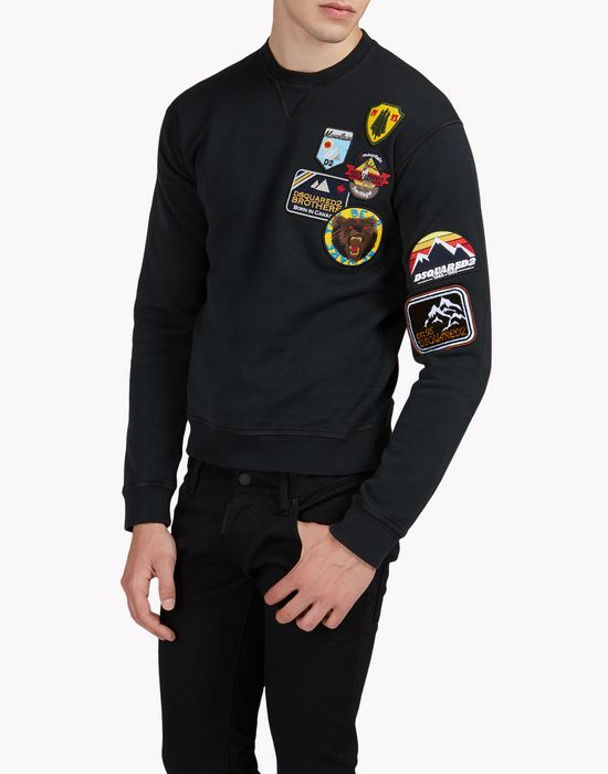 patch sweatshirt tops & tees Man Dsquared2