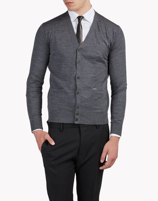 wool cardigan top wear Man Dsquared2