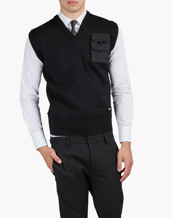chest pocket wool vest top wear Man Dsquared2