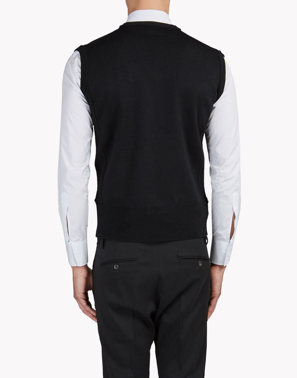 chest pocket wool vest tops & tees Man Dsquared2