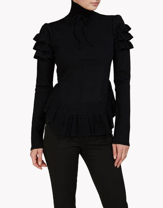 ruffle turtleneck pullover top wear Woman Dsquared2