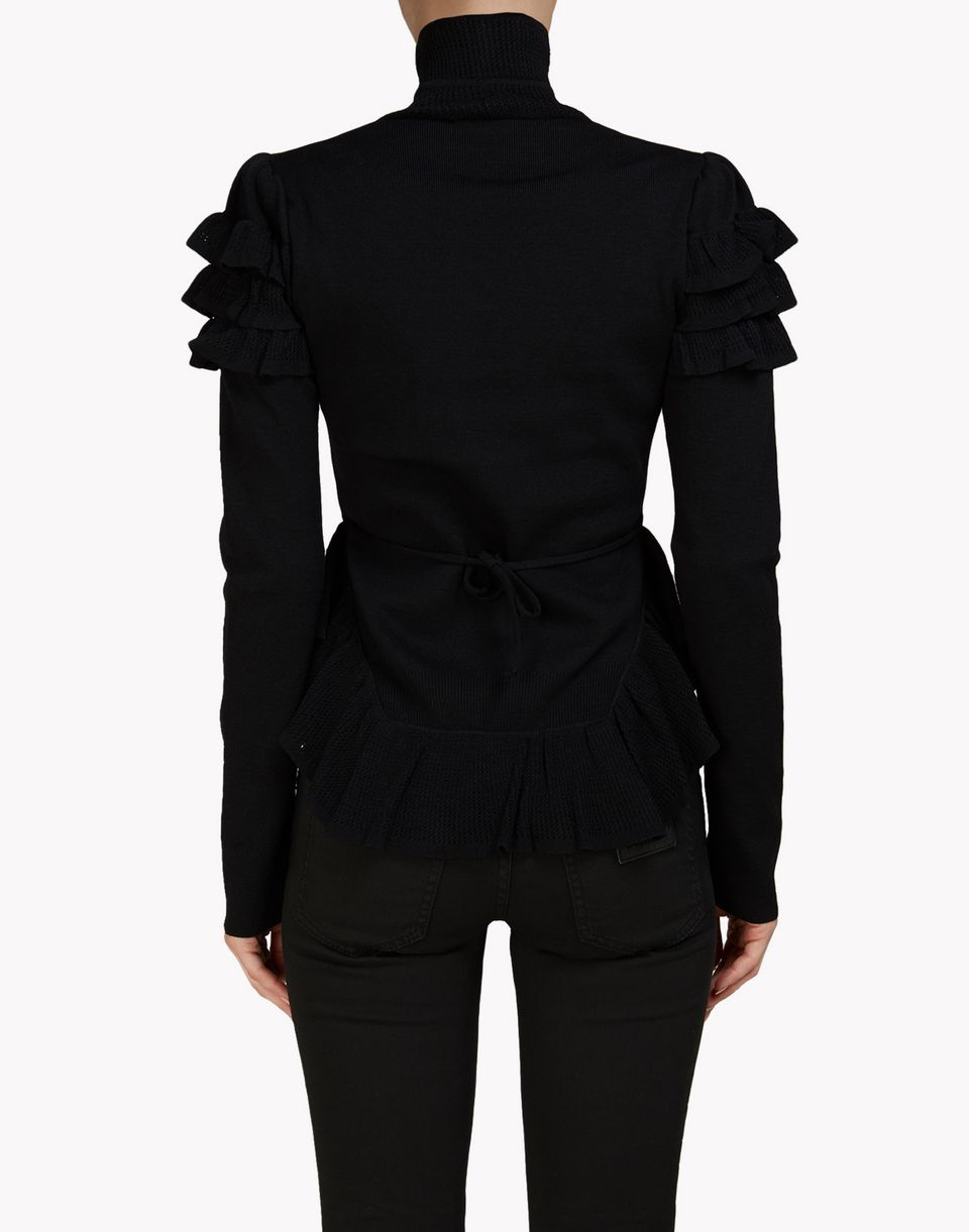 ruffle turtleneck pullover tops & tees Woman Dsquared2