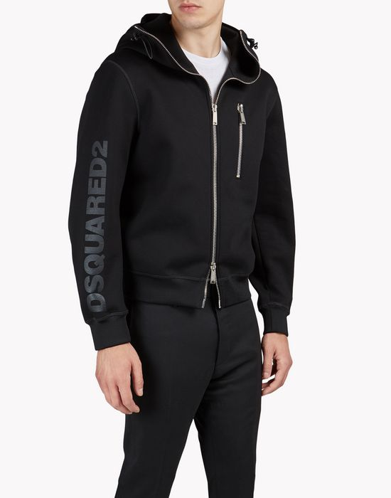 d2 hooded sweat jacket top wear Man Dsquared2
