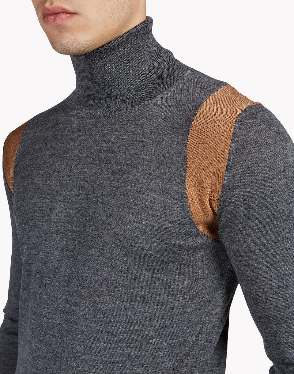 contrasted wool turtleneck pullover tops & tanktops Herren Dsquared2
