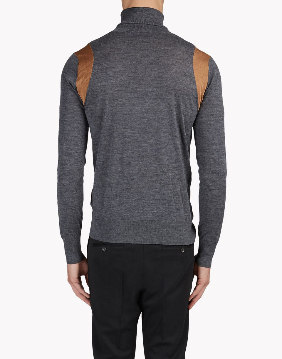 contrasted wool turtleneck pullover tops & tees Man Dsquared2