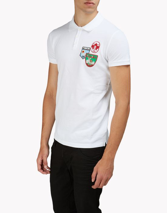 patch polo shirt tops & tees Man Dsquared2