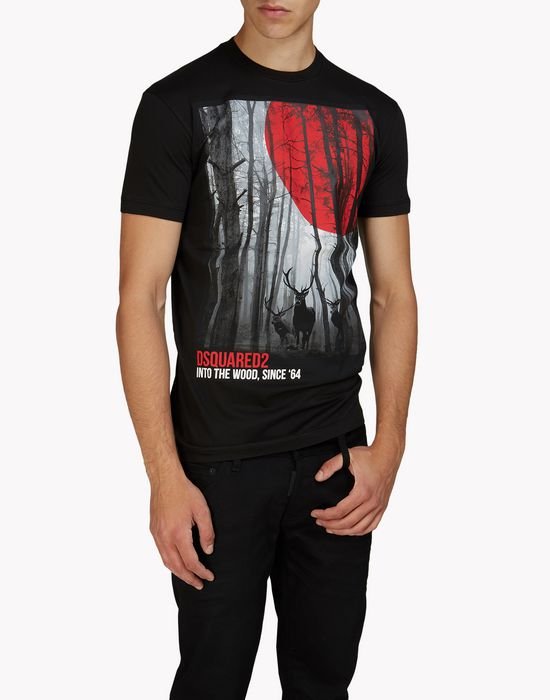into the woods t-shirt tops & tees Man Dsquared2