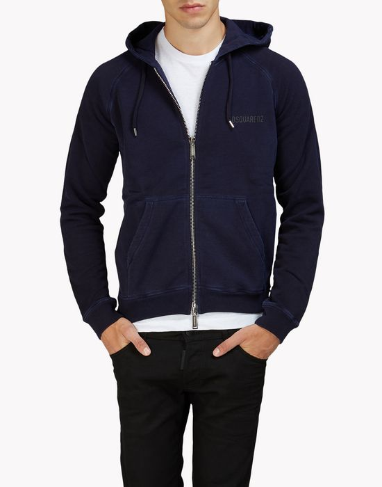 raglan hooded sweat jacket top wear Man Dsquared2